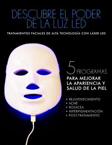 tratamiento facial máscara led